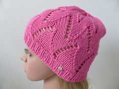 Items similar to Woman's knit summer hat pink ladies beanie natural fibers cotton beach hat crochet on Etsy Knitted Hats, Crochet Hats, Summer Hats, Sun Hats, Knitting, Trending Outfits, Unique Jewelry, Handmade Gifts, Pink
