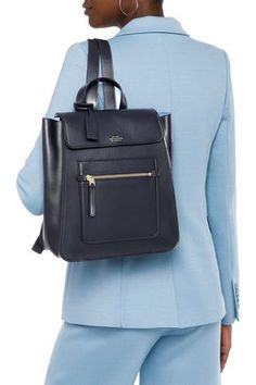 Shop on-sale Bond small leather backpack. Browse other discount designer Backpacks & more luxury fashion pieces at THE OUTNET Backpack Bags, Leather Backpack, Fashion Backpack, Backpacks For Sale, Smythson, Designer Backpacks, Jacket Dress, Luxury Fashion, Navy