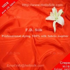 http://www.silkfabricwholesale.com/12mm-silk-crepe-de-chine-fabric-rust-red.html     F.D. silk most professional 12mm silk crepe de chine fabric-rust red  supplier.