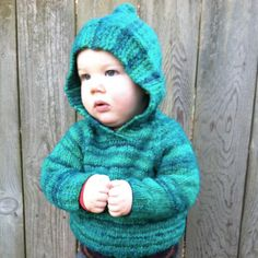 Can someone knit this for me :-)Knitting PDF pattern baby sweater - infant toddler hooded sweater
