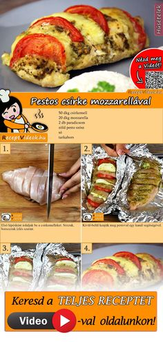 Pestos csirke mozzarellával - Another! Meat Recipes, Gluten Free Recipes, Breakfast Time, No Cook Meals, Food Hacks, Italian Recipes, Free Food, Food Porn, Food And Drink