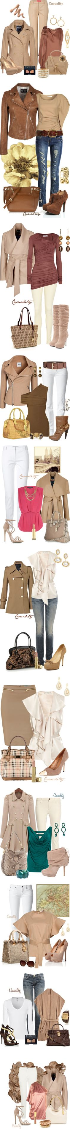 """Creme/Neutrals"" by casuality on Polyvore - love these color combo's"
