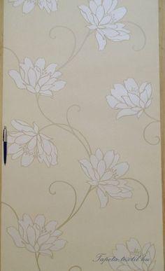 BTS 4430-4 tapéta Bézs alapon natúr virág