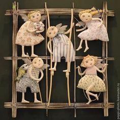 textile art doll: 10 тыс изображений найдено в Яндекс.Картинках Fabric Painting, Fabric Art, Fabric Crafts, Fabric Dolls, Paper Dolls, Art Dolls, Plush Dolls, Doll Toys, Tiny Dolls