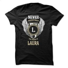 Never Underestimate The Power of LAURA - #funny tee shirts #blank t shirt. ORDER HERE => https://www.sunfrog.com/Names/Never-Underestimate-The-Power-of-LAURA-50685808-Guys.html?id=60505