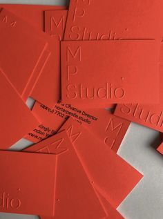 Printed by Dot Studio London. Blind embossing on Gmund Action - Electric Blood. Business cards printed for Mortar Pestle Studio Embossed Business Cards, Embossed Cards, Letterpress Business Cards, Embossed Paper, Stationery Design, Branding Design, Identity Branding, Corporate Design, Corporate Identity