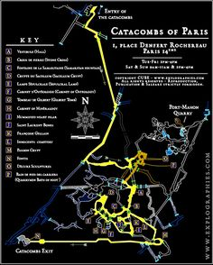 Map of the Catacombs. I'm fascinated by maps - they're an eminently practical from of beauty, true art.