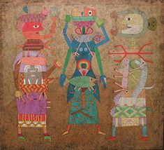 Victor Brauner, Memoire Des Reflexes, 1954, watercolor and wax on masonite