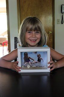 A #Beach Shadow Box for #Kids #Memories
