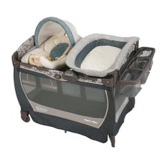 "Graco Pack 'N Play with Cuddle Cove LX Rocking Seat Play Yard - Brompton - Graco - Babies ""R"" Us.  Karleen's house?"