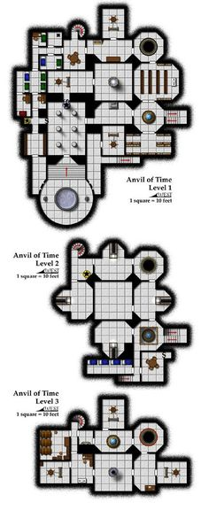 Carte D&D Temple du Temps