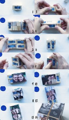 DIY photo cubes - a personal gift for special people The Effective Pictures We Offer You About DIY Anniversary cards A quality picture can tell you many things. You can find the most beautiful picture Diy Christmas Gifts For Boyfriend, Diy Gifts For Girlfriend, Diy Gifts For Dad, Diy Gifts For Friends, Boyfriend Gifts, Christmas Diy, Cube Photo, Photo Cubes, Diy Photo