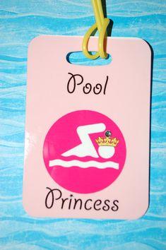 Swim Luggage Tag Bag Tag  Princess Luggage Tag by FlipTurnTags, $5.95