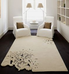 Adding Creative Floor Rugs and Carpets to Modern Interior Design Decor, Creative Flooring, Floor Rugs, Interior, Carpet Design, Living Room Carpet, Modern Living Room, Home Decor, Living Room Designs