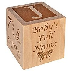 Personalized baby baptism gifts baptism wood block baptism gifts personalized baby block new birth announcement custom engraved wooden baby block for newborn boys and girls negle Gallery