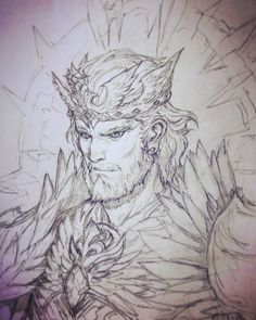 Fantasting Drawing Hairstyles For Characters Ideas. Amazing Drawing Hairstyles For Characters Ideas. King Drawing, Warrior Drawing, Character Sketches, Character Art, Character Design, Manga Art, Anime Art, Anime Drawings Sketches, Beautiful Drawings