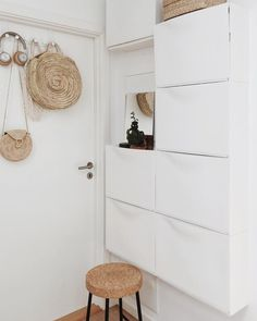 my scandinavian home: 15 Small Space Hacks To Learn From a Beautiful Danish Home Ikea Shoe Cabinet, Shoe Cabinets, Ikea Shoe Storage, Storage Cabinets, Ikea Trones, Ikea Entryway, Ikea Hallway, Narrow Entryway, Hallway Ideas