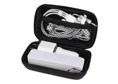 Kit de accesorios para smartphone. Incluye batería auxiliar de 2600 mAh, cargador para automóvil, cargador de pared, audífonos y cable adaptador compatible con USB, 30 pin, 8 pin y micro USB. Incluye estuche Material: Plástico. Medidas: 10.5 x 7 cm