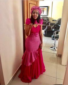 African Shweshwe Dresses for Women 2019 South African Dresses, Wedding Dresses South Africa, South African Traditional Dresses, African Print Wedding Dress, African Wedding Attire, African Print Dresses, African Print Fashion, African Attire, African Fashion Dresses