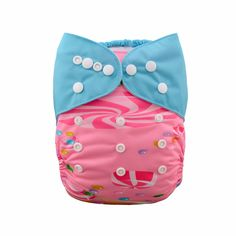 Baby's Reusable & Waterproof Rainbow & Castle Cloth Diaper in Pink & Blue(with insert), 47% discount @ PatPat Mom Baby Shopping App