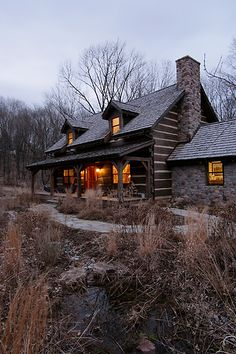 Cabin in the woods. Dreamy.
