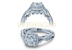 INSIGNIA-7070CU engagement ring from The Insignia Collection of diamond engagement rings by Verragio with rose and white gold!!