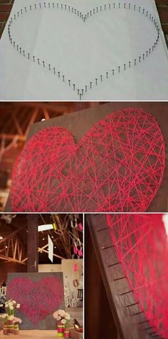 12 Easy DIY String Art Ideas to Hang in Your Home DIY Projects & Creative Crafts – How To Make Everything Homemade - DIY Projects & Creative Crafts – How To Make Everything Homemade Cute Crafts, Crafts To Do, Arts And Crafts, Diy Crafts, Teen Diy, Diy For Teens, Kids Diy, Diy Projects To Try, Craft Projects