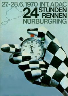 Poster of the first 24 Hours Race on the Nürburgring in 1970