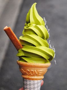 Green tea soft ice cream. I tried this at a Japanese restaurant... It tastes like lotion.. Unscented lotion! You just have to try it to understand!