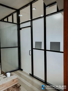 Office glass partitions often require privacy that can be achieved by the means of acid etched or textured glass. Frosted glass creates the necessary privacy but still lets the light in the room. Perfect idea for medical offices. #glasspartition #glassdivider #officedivider #officepartition #medicalofficeideas #officewallideas #glasswall #opaqueglass #privacyscreen #privacypartition #officedesignideas #modernofficedesign #crittalscreen #officewallideas Glass Office Partitions, Glass Partition Wall, Glass Room Divider, Partition Design, Modern Office Design, Office Interior Design, Office Interiors, Interior Decorating, Glass Wall Design