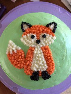 Cain's Birthday cake - birthday Cake Ideen 9th Birthday Cake, Birthday Fun, Cupcakes, Cupcake Cakes, Jasmine Cake, Fox Cake, Fox Party, Woodland Cake, Fancy Cakes