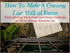 Ideas for how to make a running grocery list so you don't forget things at the store, with lots of picture examples {on Home Storage Solutions 101}