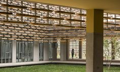 Beautiful wooden lattice bathes the French School of Beijing in natural light | Inhabitat - Green Design, Innovation, Architecture, Green Building