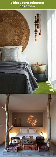 Ideas para cabeceros de cama. Cabezales originales. Ideas para cabezales de cama. #decoraciondormitorios #decoracioninterior Bedroom Apartment, Bedroom Decor, Decoration, Sweet Home, New Homes, Indoor, House Design, Couch, Interior Design