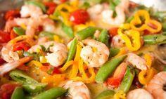 Shrimp Fajitas, Pure protein and vegetable, Dukan Diet