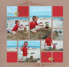 #papercraft #scrapbook #layout. Interesting to take a photo and cut out part of it to make it somewhat 3D on the page. More