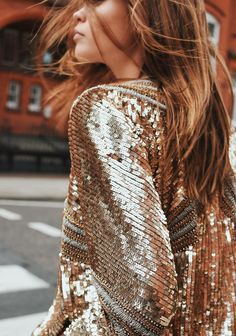 gold sequin jacket,