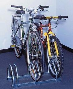 Mottez-3-Bike-Cycle-Floor-Mount-Storage-Rack-3-Bike-Silver