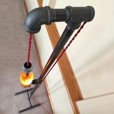 Sweet pipe lamp #repurpose via fab.hardpin.com
