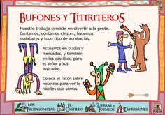 Jesters - this is in Spanish: need it translated, someone. Medieval World, Medieval Knight, Moda Medieval, Albert Schweitzer, Medieval Party, Ap Spanish, Room Themes, Middle Ages, Homeschool
