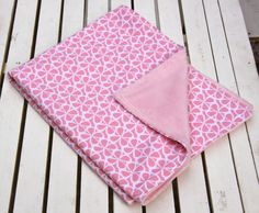 Sweetest Pink Cotton and Minky Travel Size Baby by ChubbyLove, $25.00