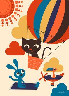 Illustration pour enfants, affiche enfant - Ingela P Arrhenius - L'Affiche Moderne