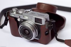 fuji in brown leather case .in love with my new cam! Leather Case, Pu Leather, Brown Leather, Gopro Camera, Camera Phone, Gopro Hero 3, Fujifilm, Binoculars, Surfboard
