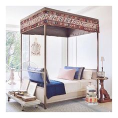 Love this chic canopy bed by @stephensillsassociates, a sophisticated take on bohemian style #inspiration via @archdigest. Photo by @scottfrancesphoto