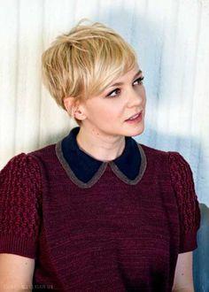 Blonde Pixie Cuts Carey Mulligan