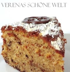 Verena´s schöne Welt: Nußkuchen mit Sahne! / Hazelnut Cake with Cream!