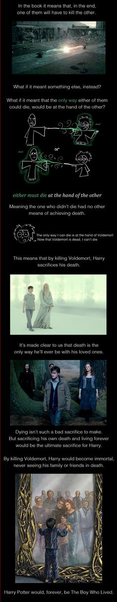 Mind-Blowing Fan Theory That Would Have Totally Changed The End Of Harry Potter. WHOA // this is SO SAD.  I like the original ending much better, but this is certainly interesting to ponder...