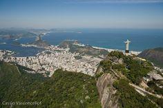 Statue of Christ the Redeemer and Sugarloaf, Rio de Janeiro, BRAZIL.
