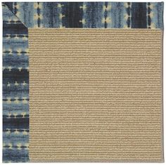 Capel Zoe-Sisal Aqua Runner 2.60 x 8.00 Area Rug by Capel. $270.00. Olefin. USA. Outdoor. Machine Woven. Blues. Area Rug Blues,Ivory & Beige. We're proud to introduce our new custom border rug program, perfect for indoor or outdoor use! Customers can now take their vision and make it a reality by creating a rug that's truly unique with Zoe by Capel. Rug size of 2.60 x 8.00. Blues,Ivory & Beige