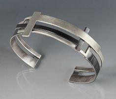 T Square Cuff: Hilary Hachey: Silver Bracelet   Artful Home